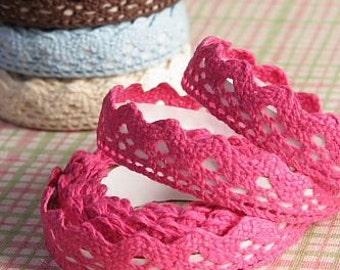 Pink Decorative Cotton Lace Tape
