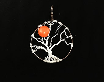 Wire Wrapped Tree With The Harvest Moon Pendant