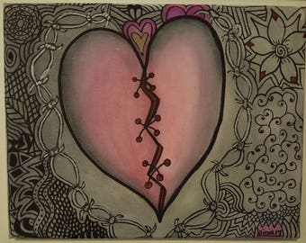 3D Painting - On The Mend - Heart Series 3