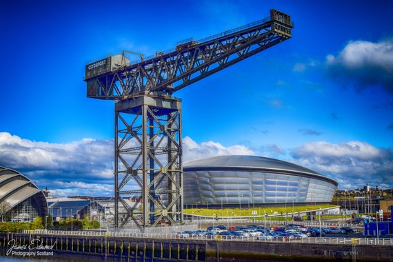Glasgow, Fine art photography print. Wall art. Wall decor. Contemporary art. Glasgow photography, The Hydro, Finnieston Crane, Stobhill