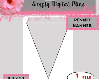YOU Design!!! .. Pennit Banner  Templates!!