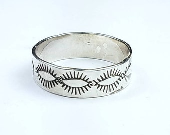 Native American Navajo handmade Sterling Silver ring