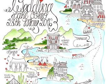 Wedding Map/ Invitation