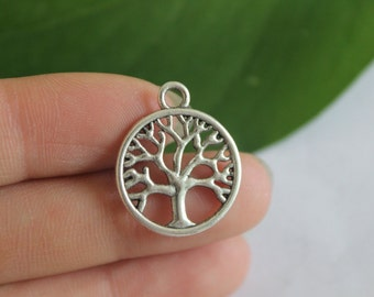 Own Charm ~ Tree of Life Charms Antique Silver Tone 2 Sided Just Lovely 20mm