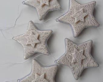 Star Decoration Set of Five