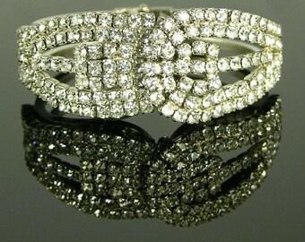 Rhinestone Clamper Bracelet (No. 630)