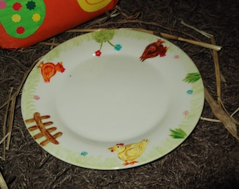 set of 4 plates 'Easter garden'