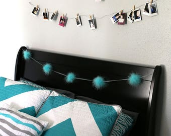 Decorative Marabou Feather Garland Light Turquoise