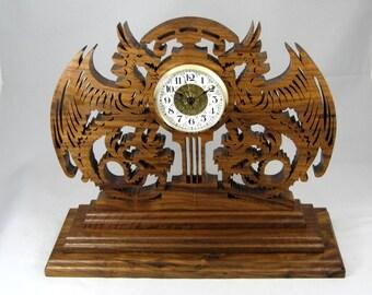 wood clock Walnut Time Guardians