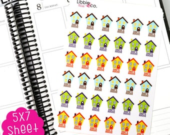 MC166 Dad's House Stickers! Perfect for Erin Condren, Happy, Mambi, Plum Paper and Personal Planners!