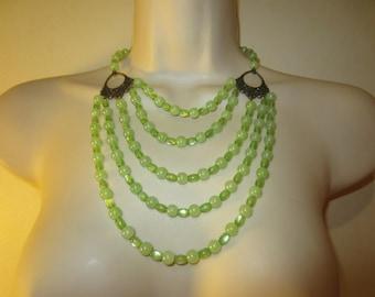 Green jade MULTISTRAND necklace