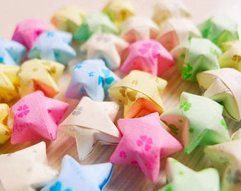 Four Leaf Clover Origami Stars - Wishing Stars For Table Decor/Gift Enclosure/Party Supply/Embellishment