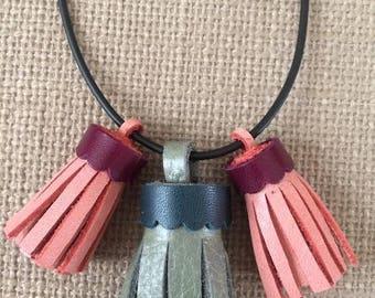 Tassel trio necklace