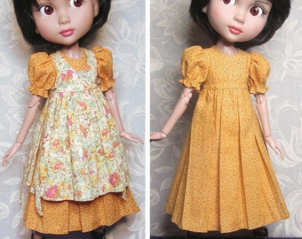 STRAIGHTFORWARD SEWING Pattern- SSP-005: Lined dress + lined pinafore with mock-ties for Tonner Patience, Marley Wentworth & Agnes Dreary.