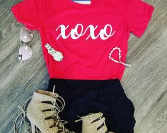 xoxo red shirt