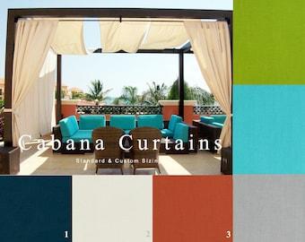 Outdoor, Cabana, Curtains, Gazebo, Patio, Deck, Porch, Tent, Sunroom, Solid, Pool, Navy, Blue, Green, Tan, Black, Veranda, Pergola, Privacy