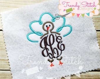 Turkey Topper 2 Machine Embroidery Design INSTANT DOWNLOAD
