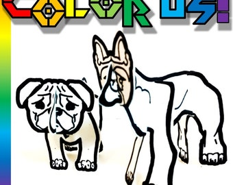 Color and Make Dog Bundle - Printable Toy