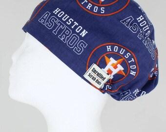 Surgical Scrub U Hat for Women - Houston Astros