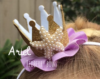 """ARIEL CROWN with Rhinestone Crown Embellishment-approximately 2""""x2"""""""
