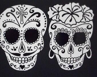 Day of the Dead Art Catrina Sugar Skull Couple #36/376-#43/44