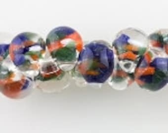 10 Teardrop Handmade Lampwork Beads, Coneflower 11 mm (TD-147)