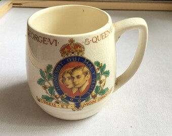 May 1937 Coronation King George VI & Queen Elizabeth Mug
