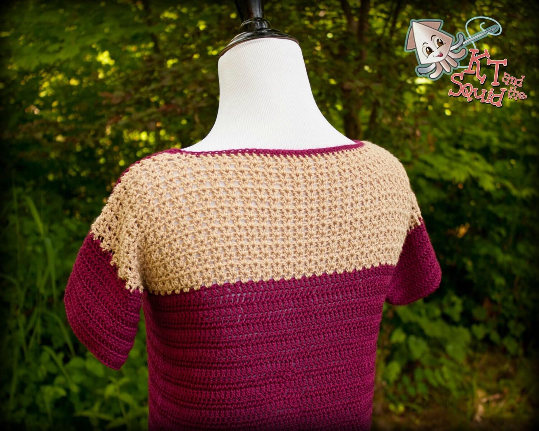 Crochet top pattern, crochet tee pattern, summer, spring, permission ...