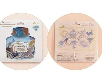 Diary Scrapbook Sticker Label Pack Japan Q-LiA Planet Constellation