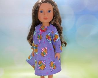 14.5 Inch Doll Dress, 14 Inch doll clothes, 14 inch doll outfits, clothes for 14 inch dolls, Purple dress for 14 inch dolls,  03-2842