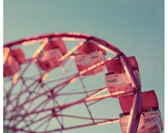 Fair Photograph - Ferris Wheel Photograph - Fine Art Photography - Summer Art - Fair Art - Number 15 - Alicia Bock - Oversized Art Print