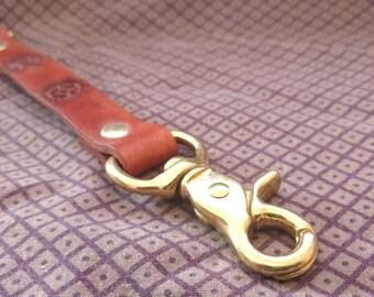 Leather Steampunk Lanyard