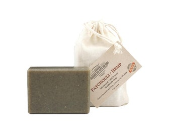 Patchouli Hemp with nettle, all natural handmade cold process soap, essential  oil soap