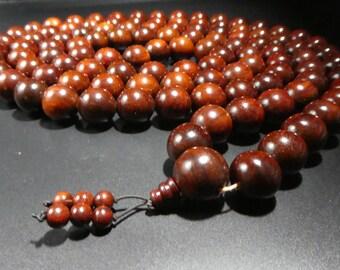 Red Sandalwood Mala Prayer Beads 20mm MRSWCT20