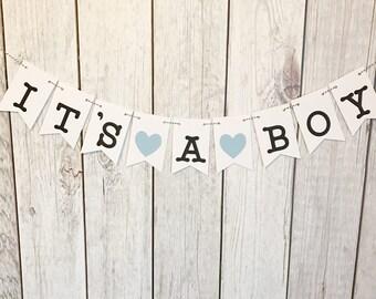 It's a Boy Banner, Boy Baby Shower, Gender Reveal Baby Shower Banner, Reveal Party, It's a Boy, Baby Boy Banner, Baby Shower Banner, Blue