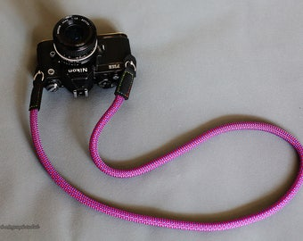 BEST purpl Climbing rope 10.5mm handmade Camera neck strap