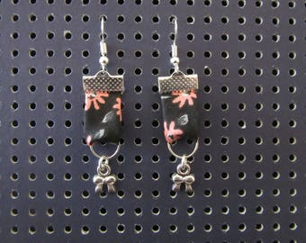 Liberty fabric earrings and bow charms
