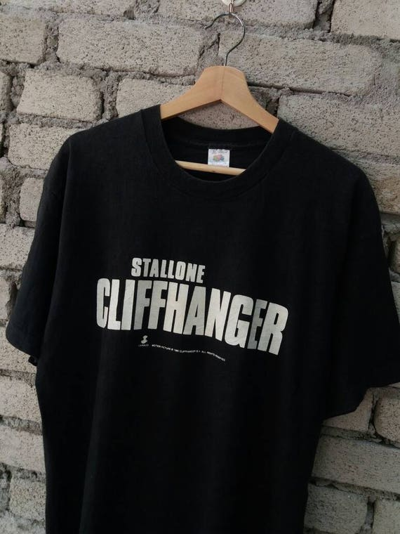 Vintage 90s Cliffhanger Movie Shirt 1993 Sylvester Stallone xwfpZZ
