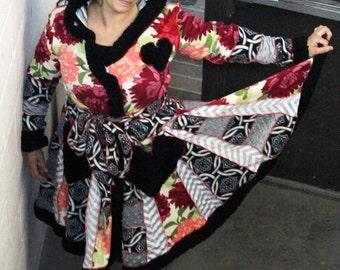 Custom Comfy Warm Elf Faerie Fae Fairy Carousel Patchwork Coat