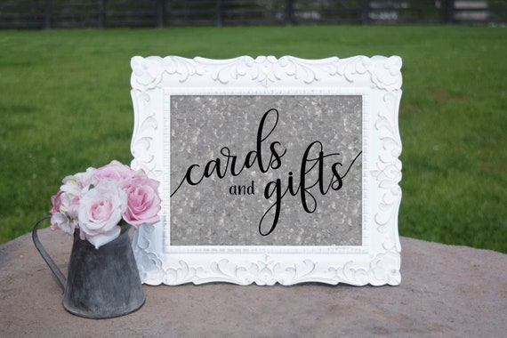 Barn Wedding Cards & Gifts Sign | PRINTED Wedding sign, Cards table Decorations, Galvanized Wedding Signage, Rustic Wedding decorations