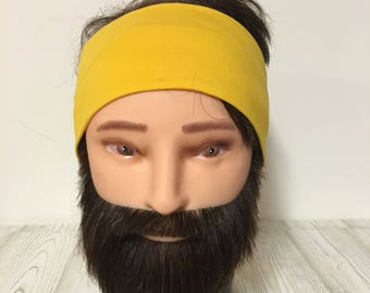 Cotton jersey Headband Yellow