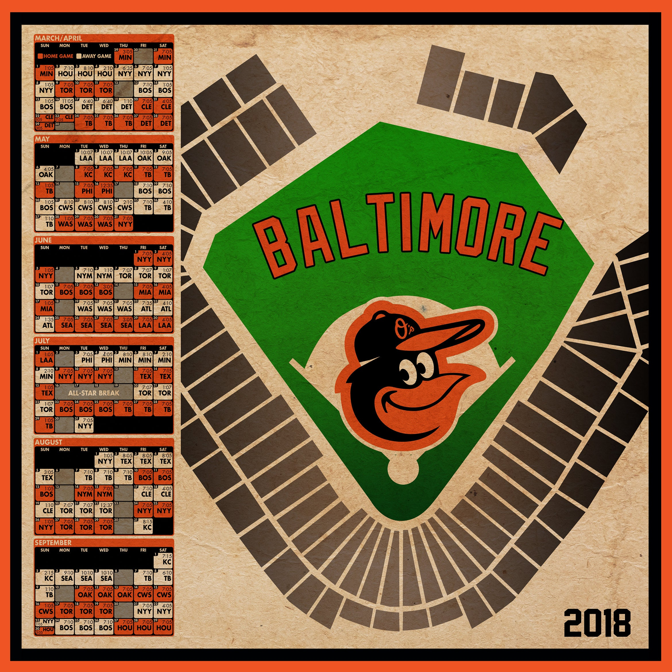Dynamic image within baltimore orioles printable schedule