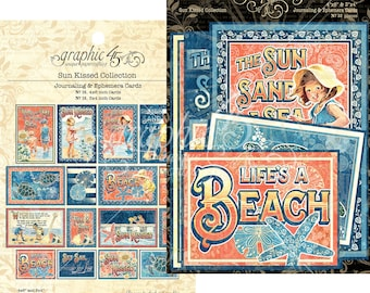 SUN KISSED Ephemera and Journaling Cards by Graphic 45