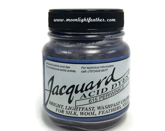 Feather, silk, wool, cashmere and Yarn Dyes - PERIWINKLE Jacquard Acid Dyes - 1/2 Oz : 3721