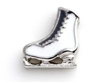 Ice skate floating Charms for Living Lockets, Glass Memory Lockets