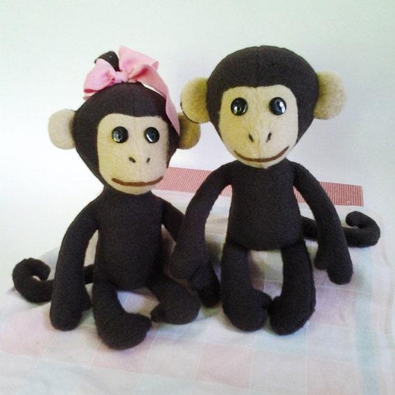 Baby monkey sewing pattern, Stuffed monkey patterns, DIY doll monkey ...