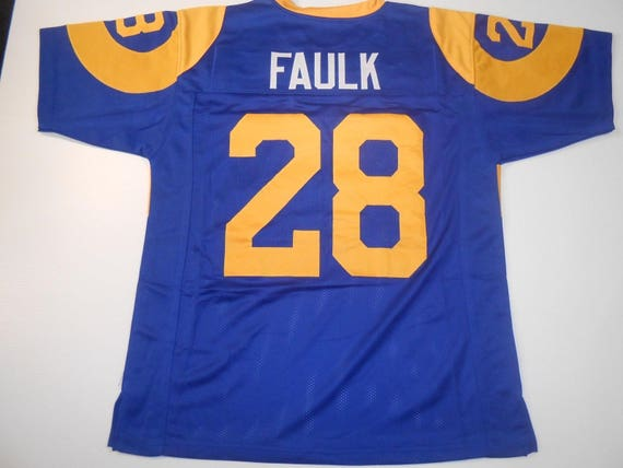 L.A. Rams Merlin Olsen UNSIGNED CUSTOM Made Blue Jersey