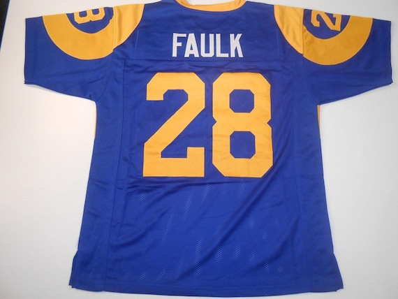 L.A. Rams Merlin Olsen UNSIGNED CUSTOM Made Blue Jersey 8ore9ILvLW