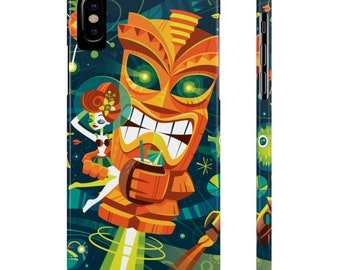 Tiki Planet By Jeff Granito Slim Phone Case