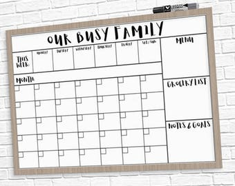 calendar with family pictures